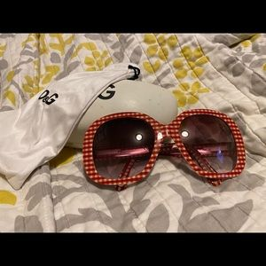 D&G gingham print sunglasses